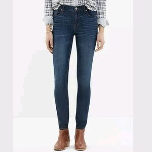 Madewell Jeans 25 Skinny Skinny High Riser Dark